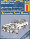 American Motors Mid-size Models Repair Manual