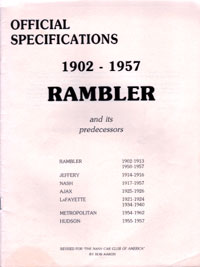 Rambler Official Specifications
